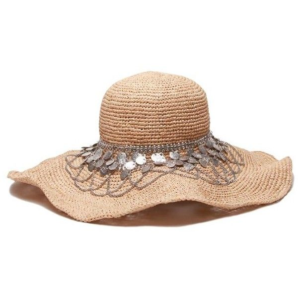 Womens Sun Hat Argento (385 RON) ❤ liked on Polyvore featuring accessories, hats, sun hat and beach hat