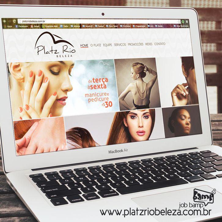 #JobBamp - Site do salão de beleza, @Platzriobeleza , o projeto foi desenvolvido em #WordPress com rolagem horizontal e totalmente #responsivo, todo o conteúdo e as redes sociais são geridas pelos criativos da Bamp. O #PlatzRio fica localizado no Caminho das Árvores e conta com uma equipe especializada. -- www.platzriobeleza.com.br
