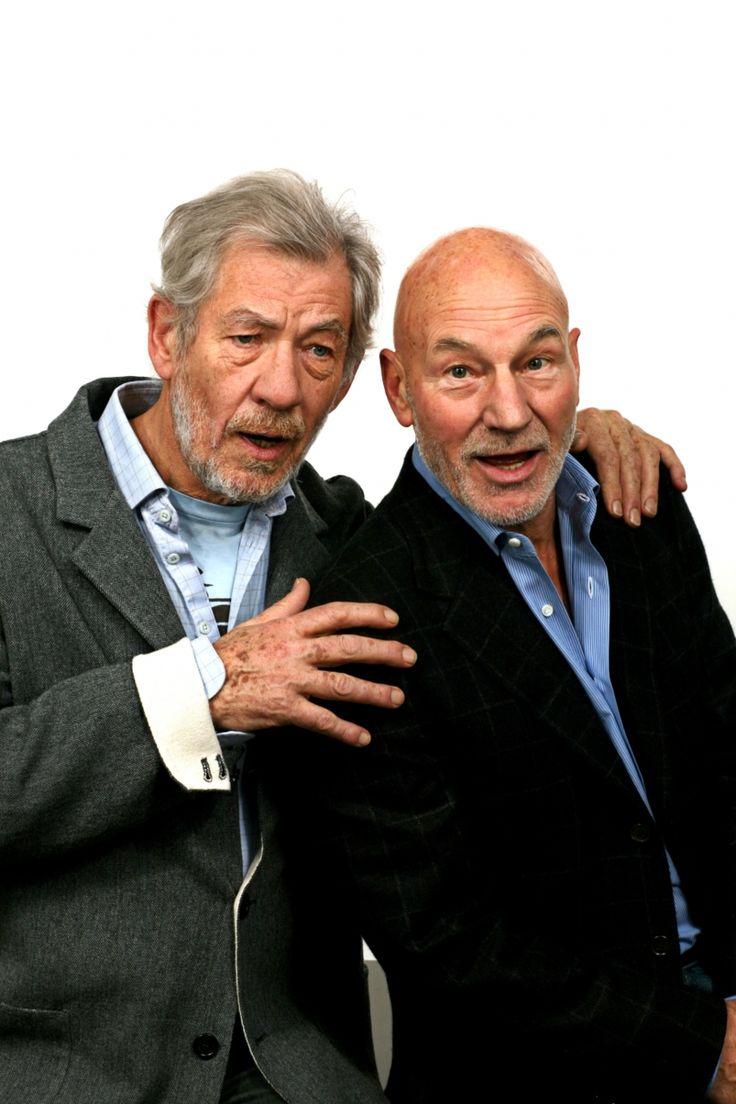 Ian McKellen and Patrick Stewart. Magneto, Gandalf, Captain Picard, Xavier