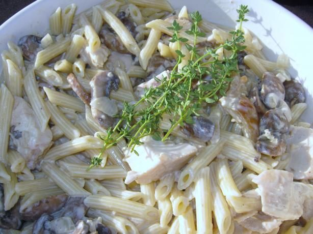 White Wine and Garlic Mushroom Cream Sauce