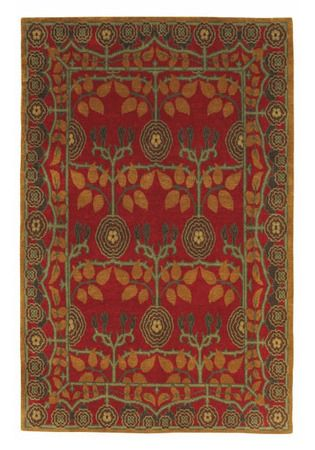 Donegal Rose Ruby Rug Tiger Rug Mission Rugs Arts