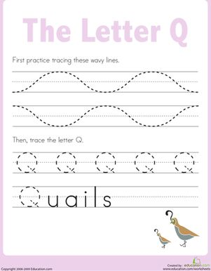 letter q tracing practice the o 39 jays kindergarten and preschool. Black Bedroom Furniture Sets. Home Design Ideas