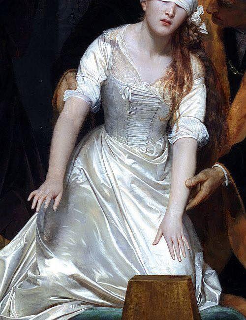 The Execution of Lady Jane Grey, 1833 Paul Delaroche  detalhe