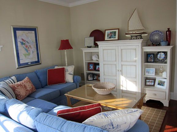 Red white and blue is always a classic color scheme for Basement room ideas in bayonne nj