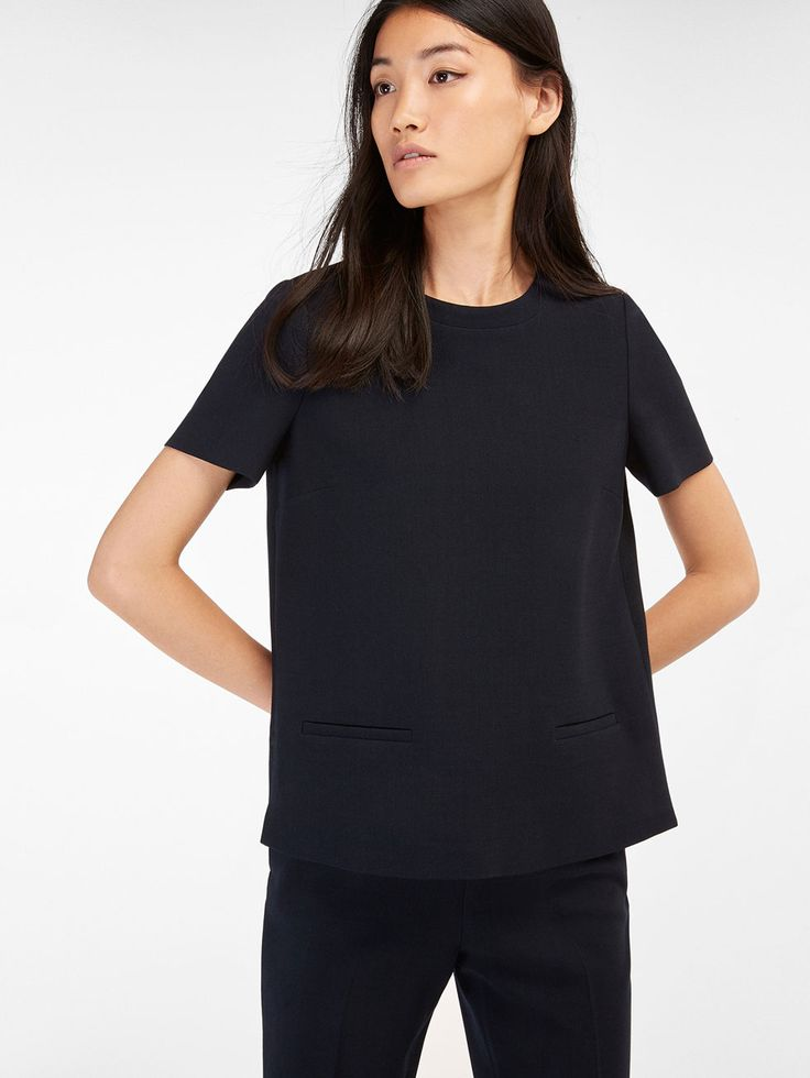 Autumn winter 2016 WOMEN´s NAVY TOP at Massimo Dutti for 98.5. Effortless elegance!