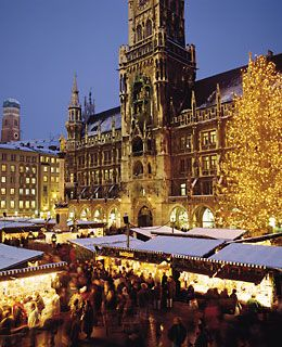 Christmas markets in Germany and throughout Europe ... here is a shot of the main square market in Munich, Germany.