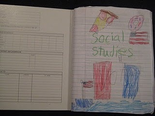 social studies notebooking....I think this would be great for notetaking!!