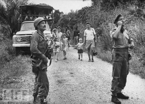 The legendary Mad Mike Hoare outside of Stanleyville, Congo 1964