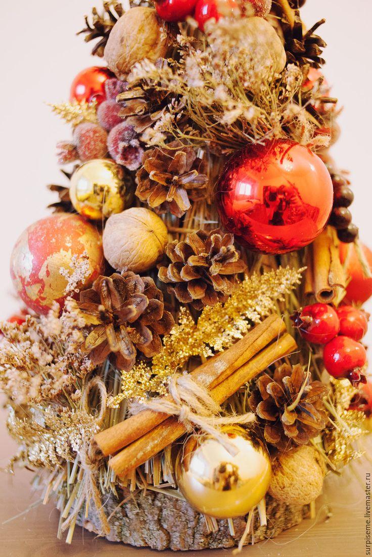 """Купить Новогодняя елочка """"Красное золото"""" - золотой, елка, елка новогодняя, елка ручной работы"""