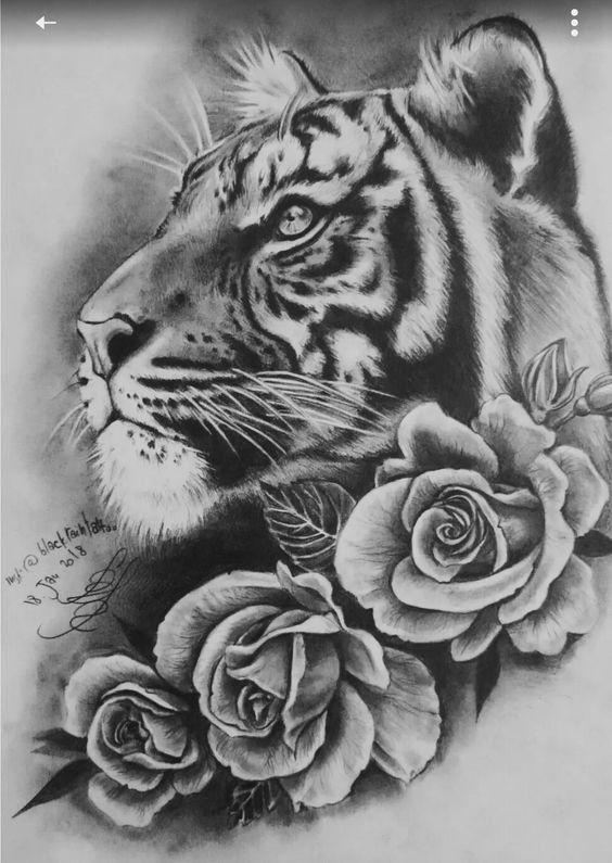 Idée de tatouage de tigre – tatouage de tigre   – Tattoo Ideen