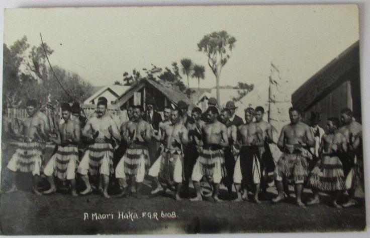 A Maori Haka , FGR series , posted 1920