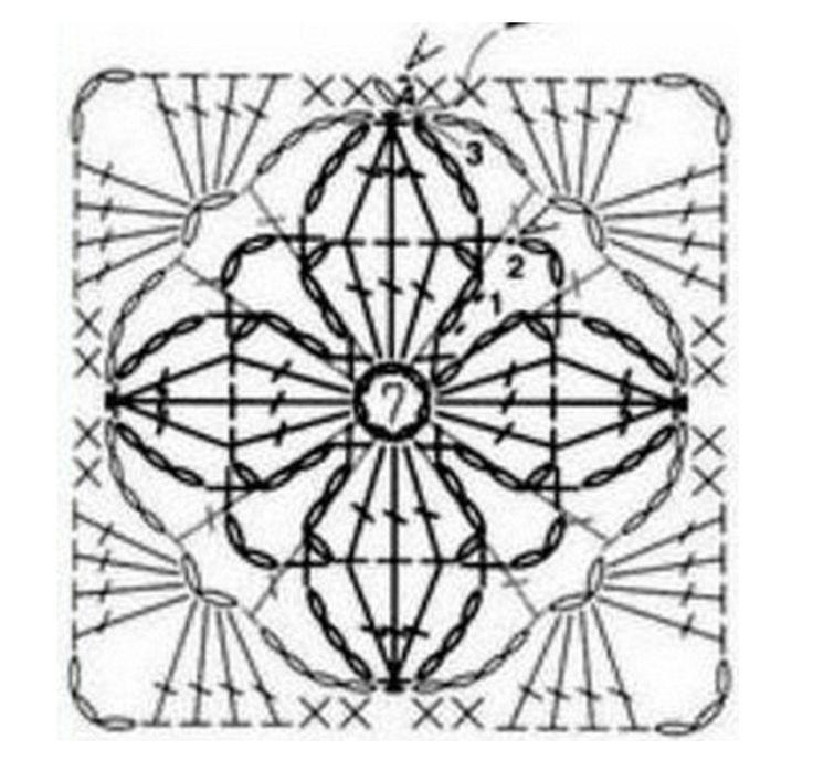 211 best Crochet Granny/square images on Pinterest | Crochet ...