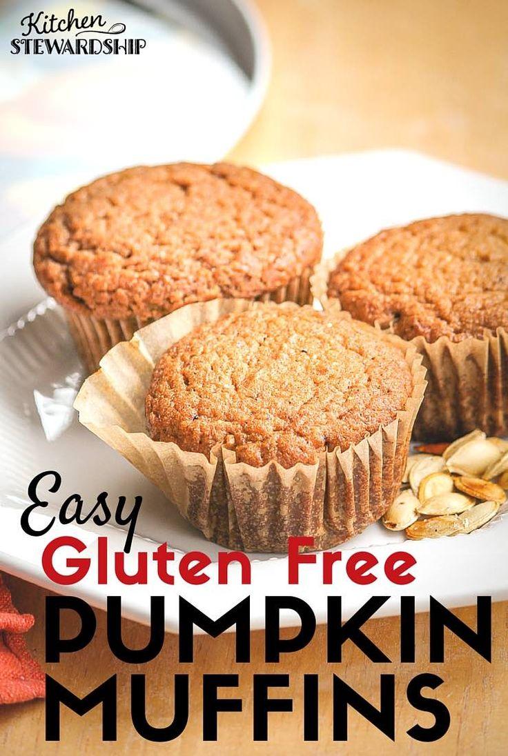 Gluten-Free Pumpkin Muffins   Recipe   Easy Pumpkin Muffins, Muffins ...