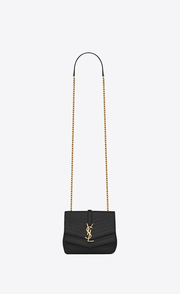 6af927bbf324 SAINT LAURENT Sulpice Woman Small soft Sulpice chain bag in quilted black  leather a V4