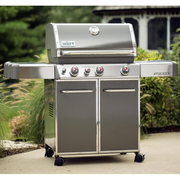 Weber Genesis Premium EP-330 Freestanding Propane Gas Grill With Sear Burner & Side Burner - Smoke available at ShoppersChoice.com....