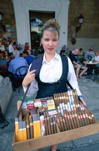 Cigar vendor . Havana, Cuba