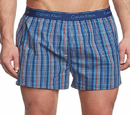 Calvin Klein Mens Collins Plaid Pyjama Shorts, Blue, Medium Calvin Klein  offers these Collins Plaid Pyjama Shorts in Knight Ride Blue design, featu…