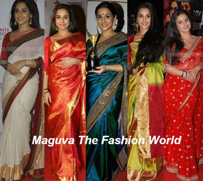 vidya balan in designer sarees