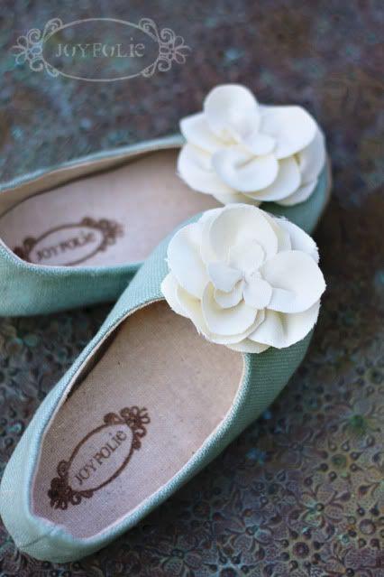 Lovely shoes for the little girl