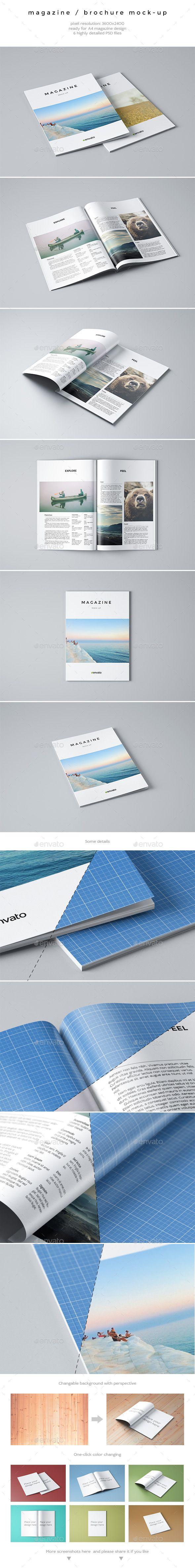 Magazine / Brochure Mock-Up | #magazinemockup #brochuremockup | Download: http://graphicriver.net/item/magazine-brochure-mockup/9445696?ref=ksioks