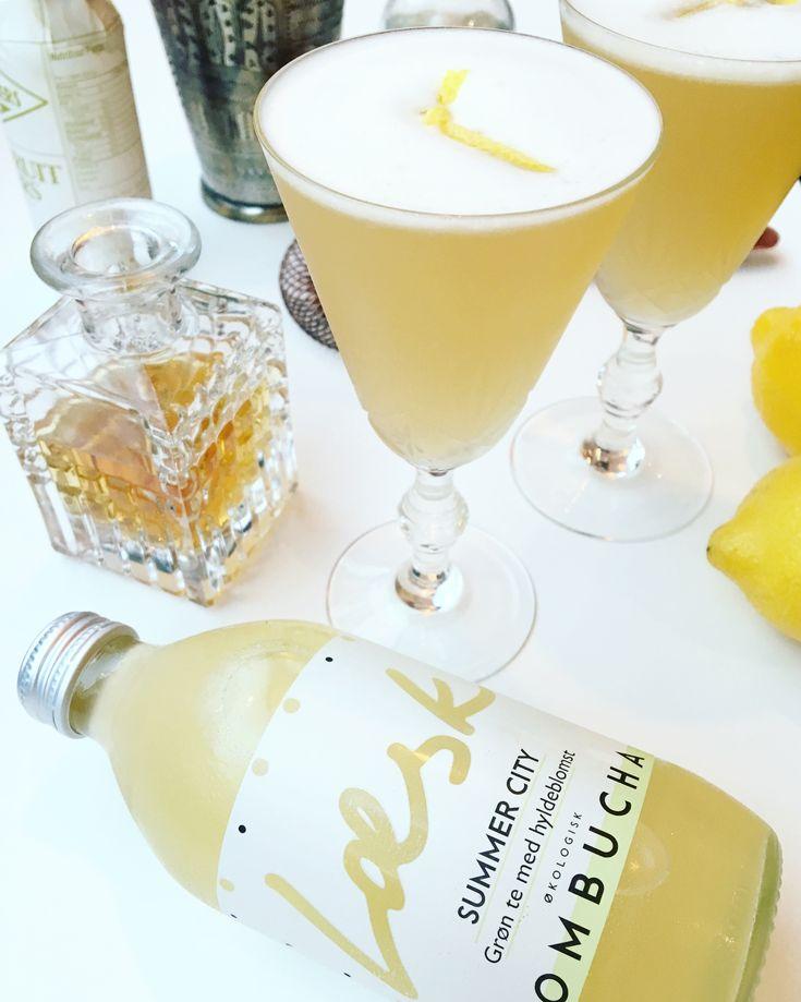Læsk Kombucha Whiskey Sour recipe - cocktail recipe