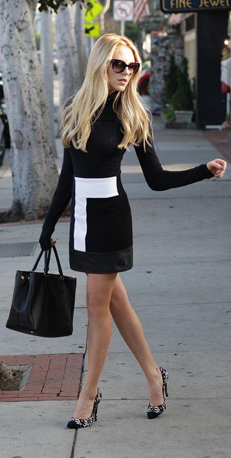 Street Fashion Black White Dress Wachabuy Womens Outfits