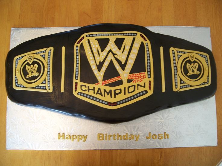 Wwe Wrestling Belt Birthday Cake