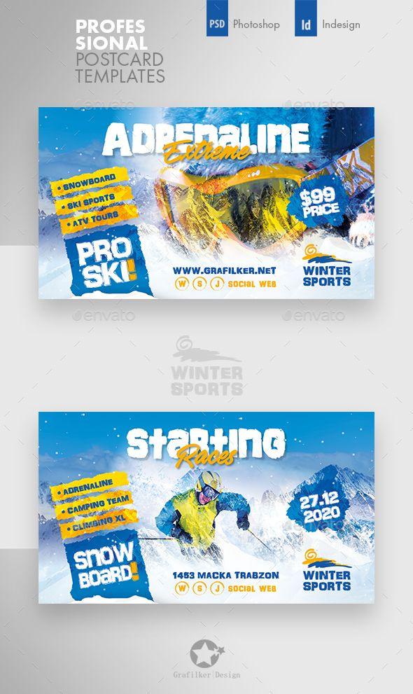 Winter Adventure Busines Card Templates Card Templates Business Card Template Design Business Card Template Psd