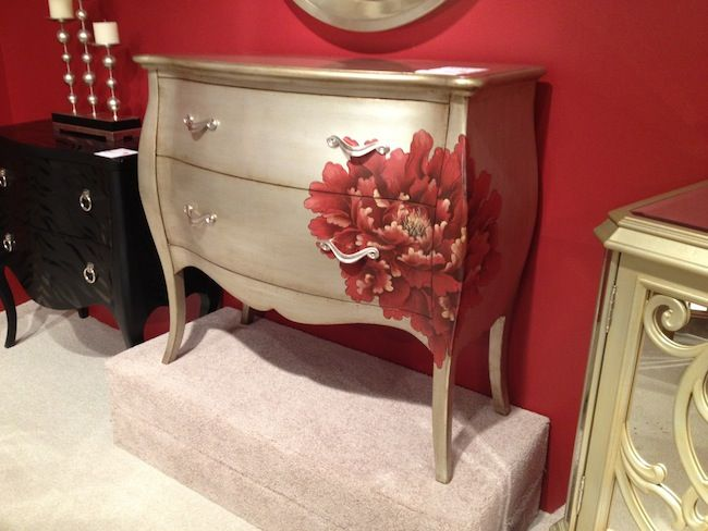 Silver finish and hand painted detail on bombay chest. #hpmkt via @Jason Stocks-Young BALL interiors