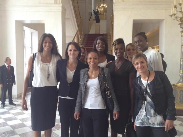 L'équipe de France de basket féminin au Palais de l'Elysée, 17/09/2012, London 2012, Les braqueuses, @ffbasketball, @Elysee