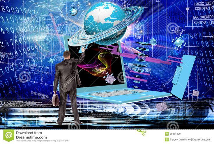 Generation New Computer Technology Stock Photo Image
