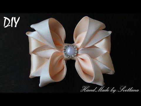 Бантики из лент КАНЗАШИ DIY Bows made of ribbon Kanzashi Laço de Cetim Curva da fita 6 - YouTube