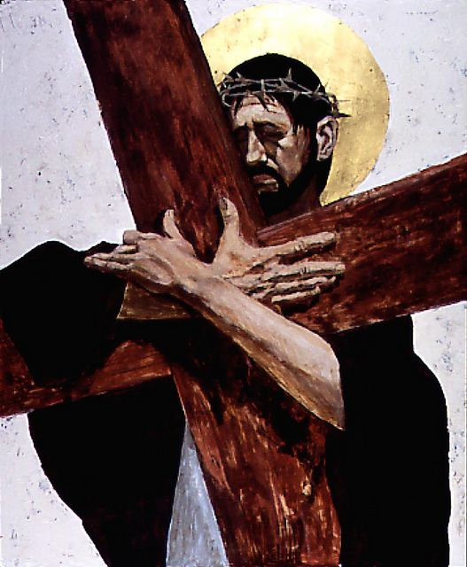 Artist: Ben Denison. Stations of the Cross for St. Isaac Jogues Roman Catholic Church, Niles, Illinois