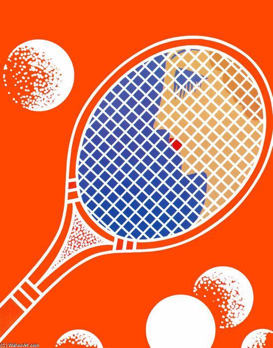Tennis de Erté (Romain De Tirtoff) (1892-1990, Russia)