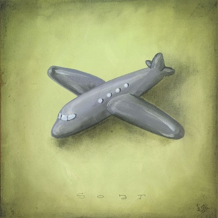 Boys Toys - Airplane Canvas Reproduction
