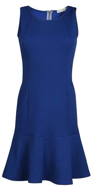 Vestido sem manga modelo peplum na barra azul escuro - Visite Riachuelo.com.br