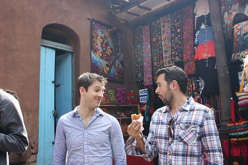 At an outdoor market in Pisac, Peru (near Cuzco + Machu Picchu), eating an empanada.: Travel Photos, Empanada