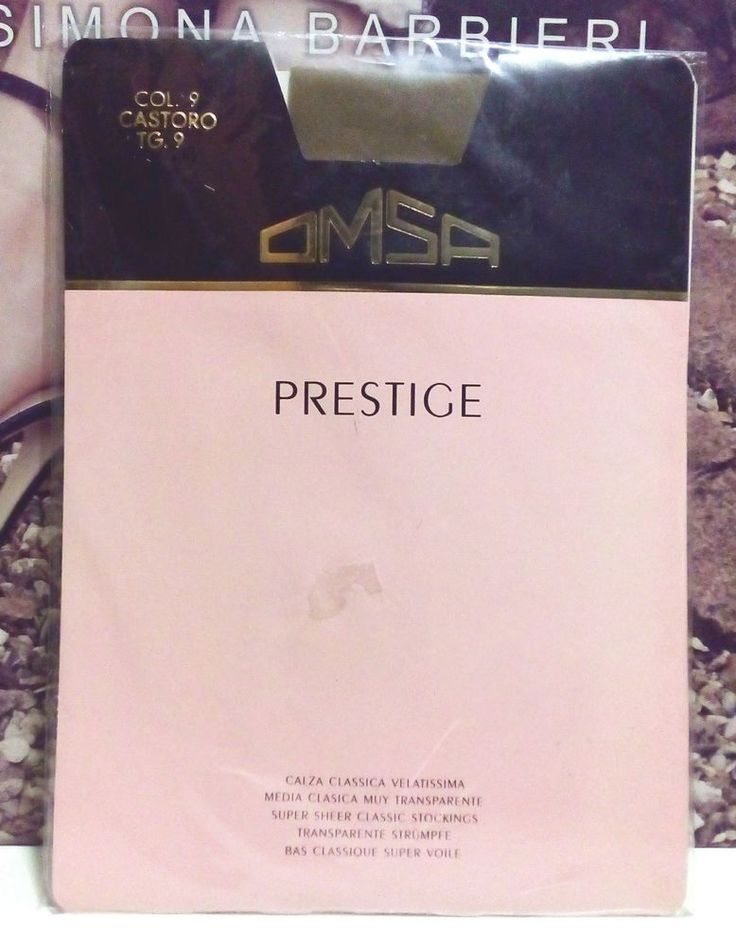 Omsa Prestige Calze Autoreggenti Velatissima Taglia 9 2° Castoro Sexy