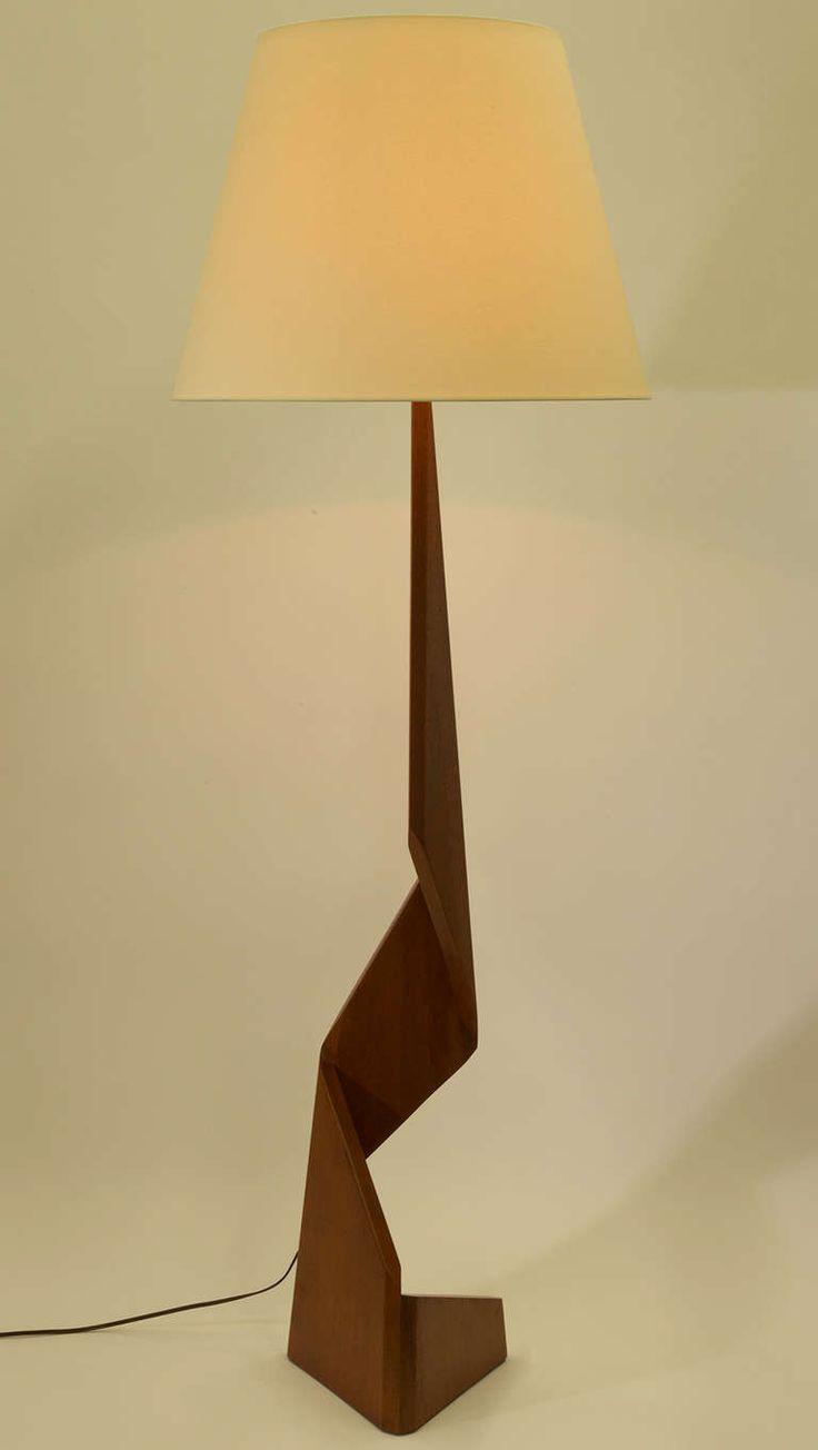 Sculptural Danish Floor Lamp