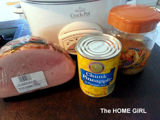 """Easy and DELICIOUS Crock Pot Ham!  This was as good as a ham from the """"Honey Baked Ham"""" Store...a bold claim?  Yes!  But it's absolutely scrumptious!  =D"""