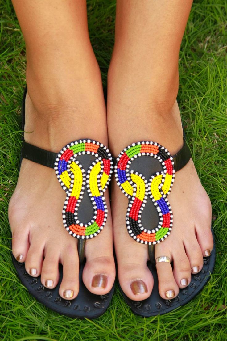 1000 Images About African Beaded Sandals On Pinterest