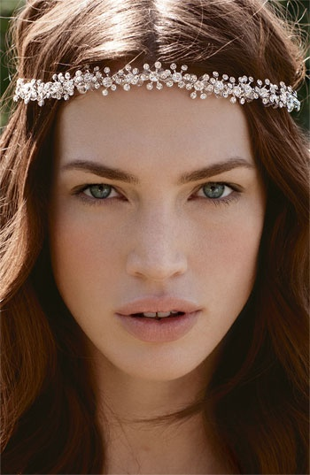 headwrapHair Ideas, Head Wraps, Red Carpets, Bridal Makeup, Nature Makeup, Beautiful Crystals, Head Band, Crystals Headbands, Wedding Hairstyles