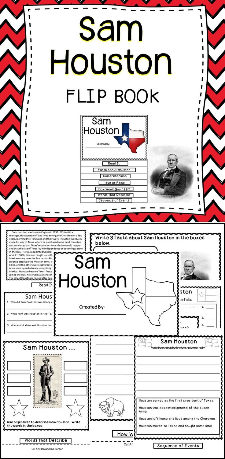 Students will have fun learning about Sam Houston by creating this engaging flip book!