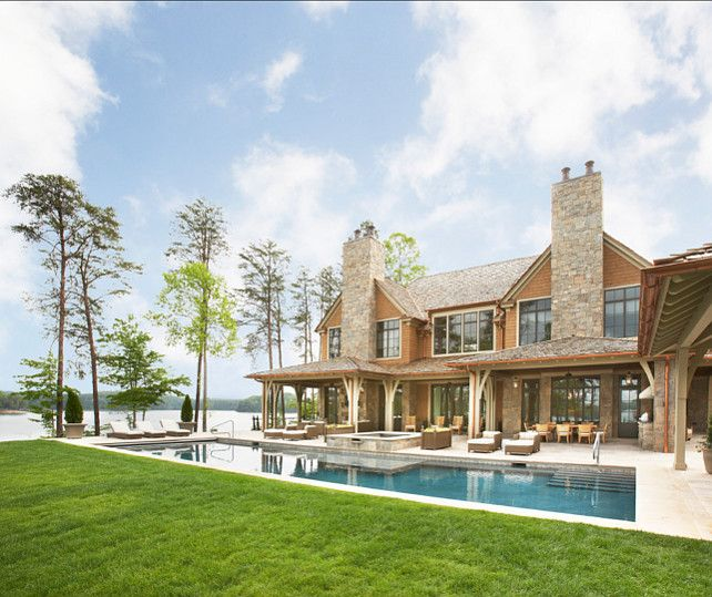 find this pin and more on lake home exteriors - Lake Front Home Designs