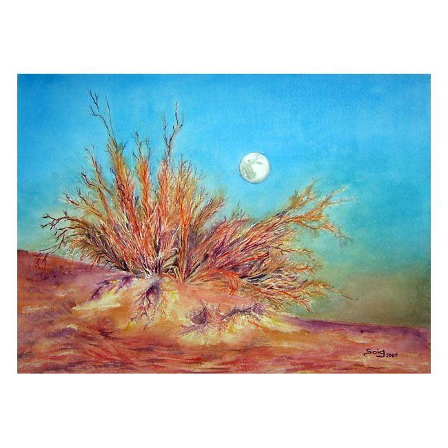 Luna del Desierto acuarela