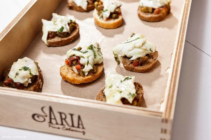 #ARIAFineCatering hosting majestic evenings at Island in Athens. Here delicious canapes!!