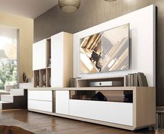 Living Room & Hall Furniture :: Cabinets & Storage Solutions :: Modern Garcia Sabate Wall Storage System with Cabinet, Shelving and TV Unit