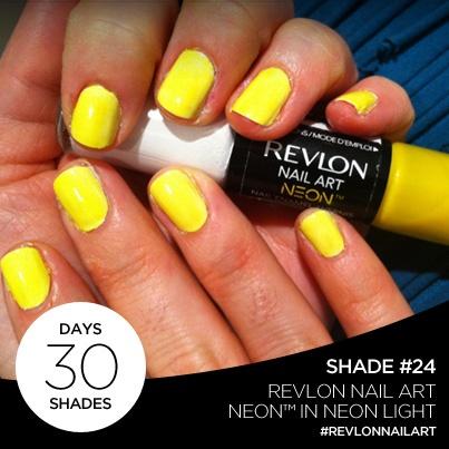 23 best revlon nails images on pinterest revlon nail polish day 24 of 30 days 30 shades is revlon nail art neon in neon light prinsesfo Gallery