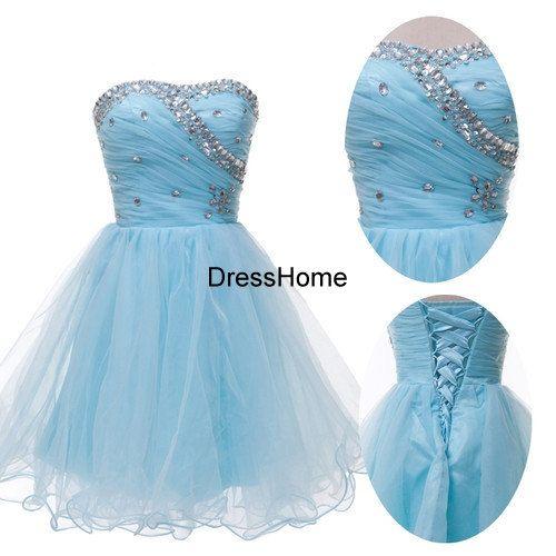 blue prom dress,short prom dress