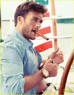 Damn, Scott Eastwood is fine!  He sure does look like his dad in this pic!